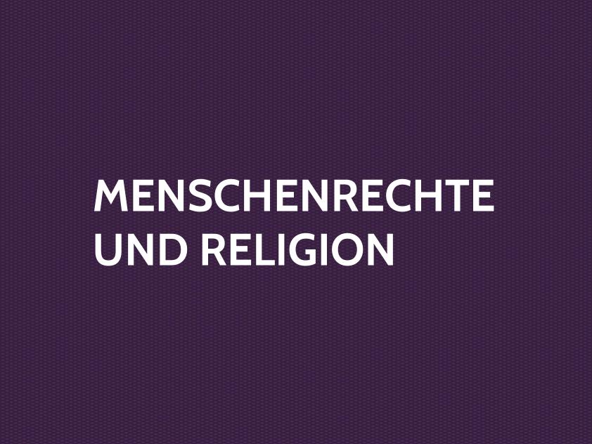 Menschenrechte Und Religion Forum Dialog