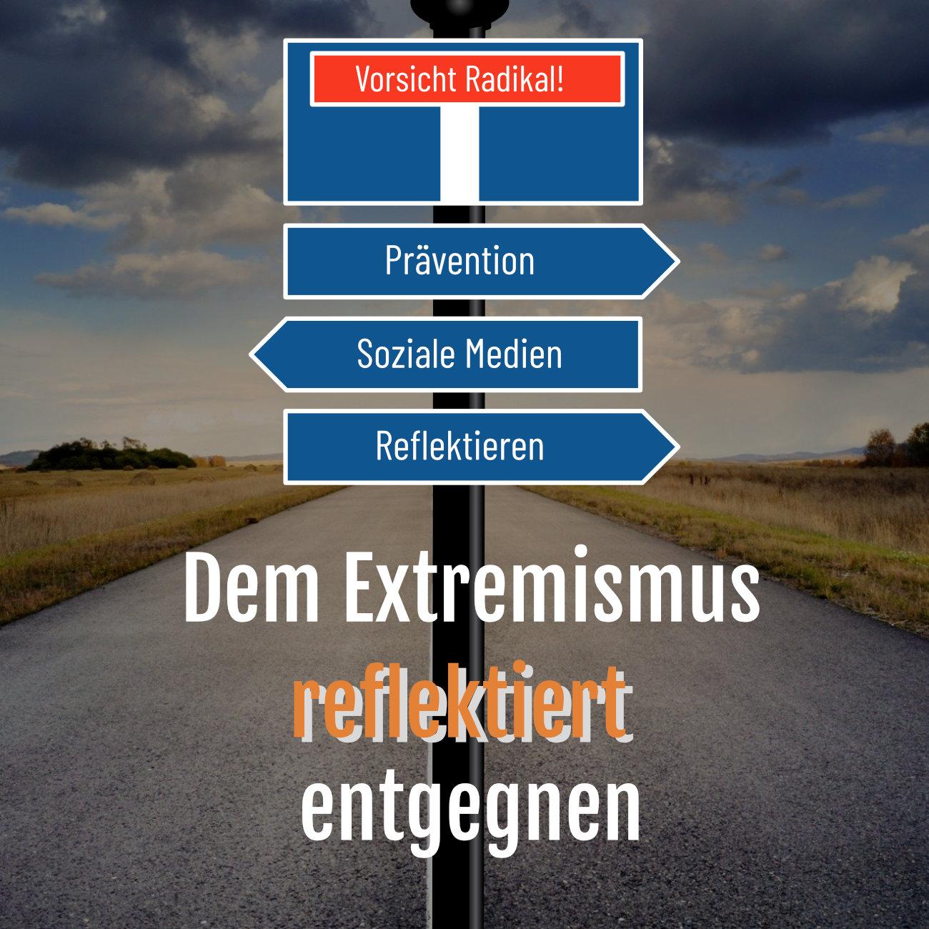 Dem Extremismus reflektiert entgegnen Logo